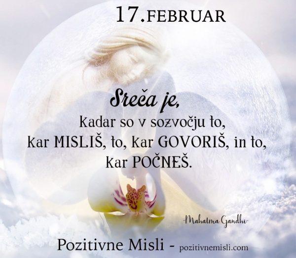 17. FEBRUAR - 365 modrih misli - Sreča je