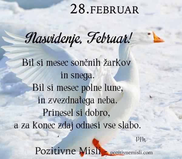 28. FEBRUAR - 365 modrih misli - Nasvidenje, Februar!