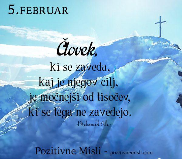 5. FEBRUAR - 365 modrih misli - Človek, ki se zaveda