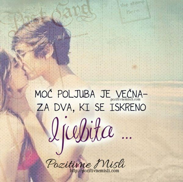 Moč poljuba je večna za dva, ki se iskreno ljubita