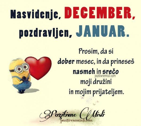 Nasvidenje, december. Pozdravljen, januar