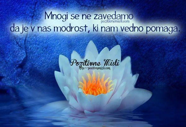 Mnogi se ne zavedamo, da je v nas modrost, ki nam vedno pomaga