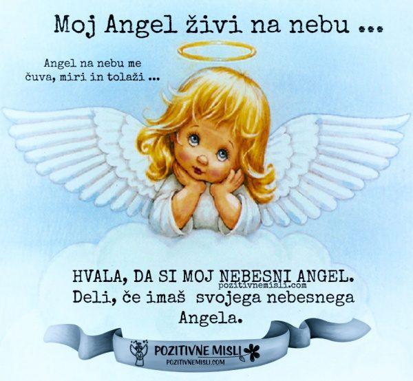 Moj Angel živi na nebu ...