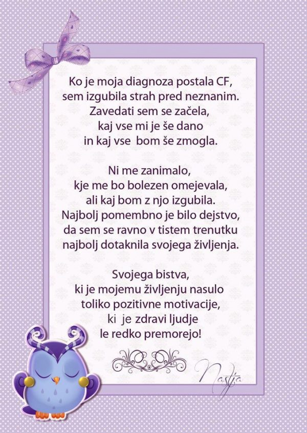 Ko je moja diagnoza postala cistična fibroza