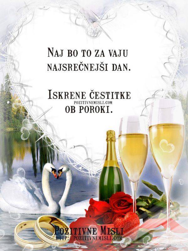 Iskrene čestitke ob poroki