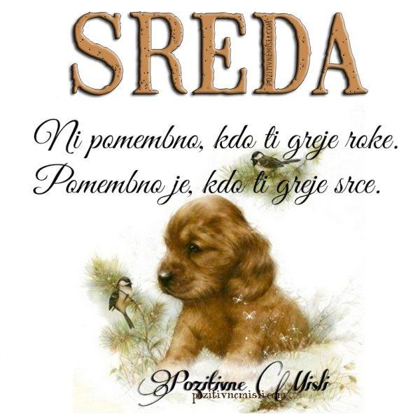 SREDA - Ni pomembno, kdo ti greje roke ...