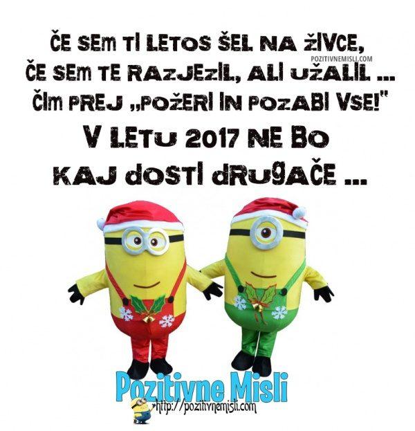 Minioni - voščilo za leto 2017