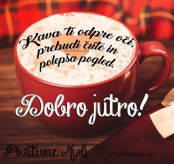 Kava ti odpre oči, prebudi čute in polepša pogled