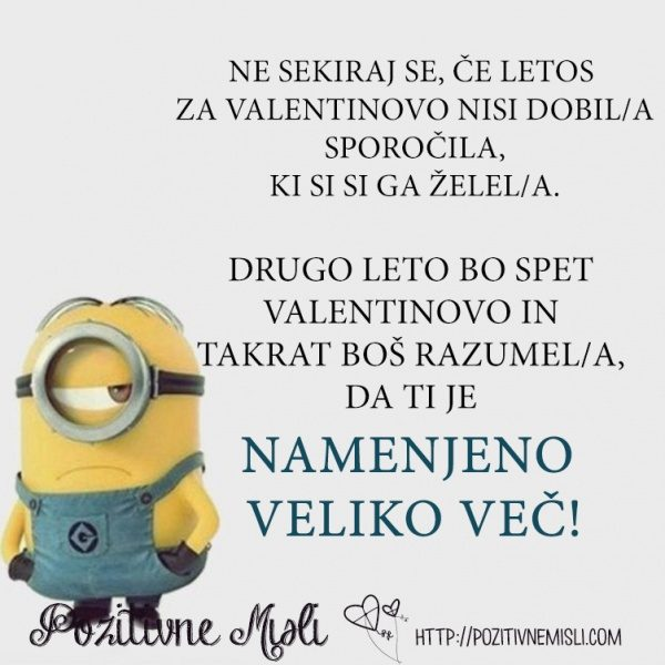 Ne sekiraj se, če letos  za valentinovo nisi dobil sporočila, ki si si ga ž