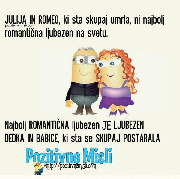 Julija in Romeo, ki sta skupaj umrla, ni najbolj romantična ljubezen na svetu