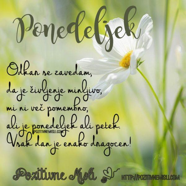 Odkar se zavedam, da je življenje minljivo, mi ni več pomembno ...