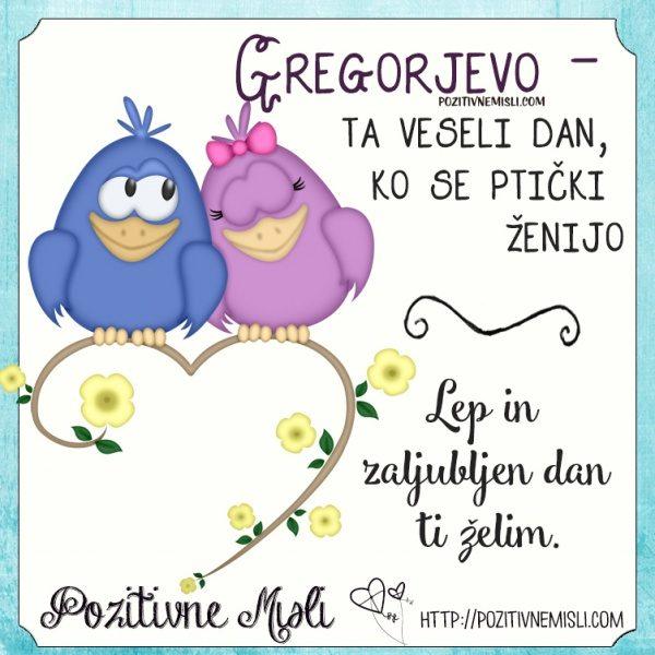 Gregorjevo -  ta veseli dan, ko se ptički ženijo