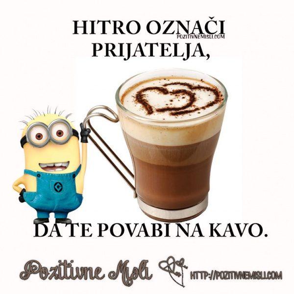 Hitro označi prijatelja, da te povabi na kavo