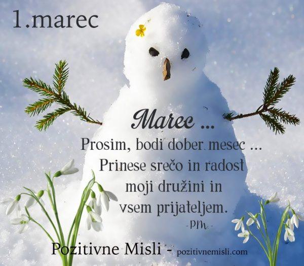 1. marec - MESEC marec