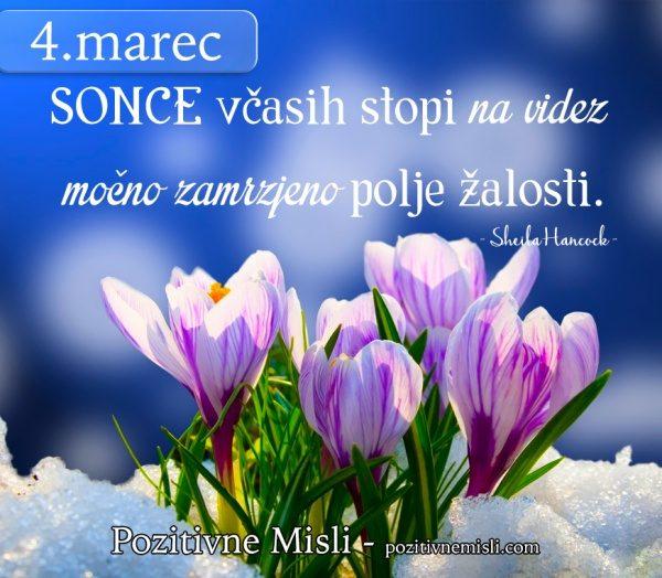 4. marec - 365 modrih misli -SONCE včasih stopi