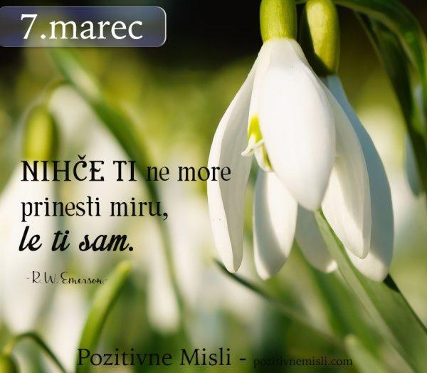 7. marec - 365 modrih misli -  Nihče ti ne more
