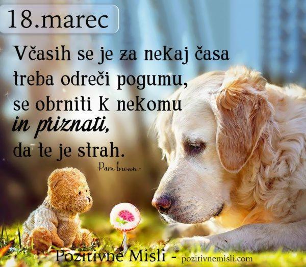 18. marec - 365 misli  - Včasih se je za nekaj