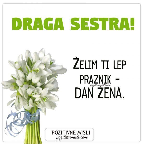 SESTRA- voščilo za  dan žena