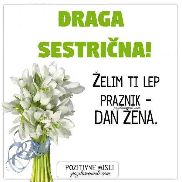 SESTRIČNA - voščilo za 8. marec