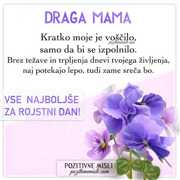 MAMA - VOŠČILO ZA ROJSTNI DAN