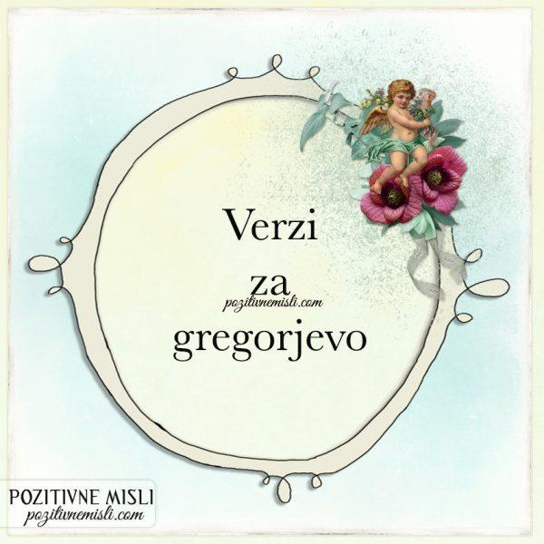 Verzi za gregorjevo
