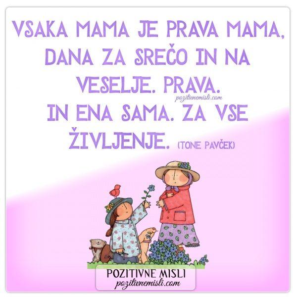 Verzi za materinski dan - Vsaka mama