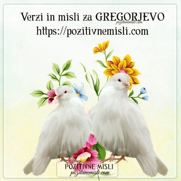 VERZI za gregorjevo - MISLI za gregorjevo