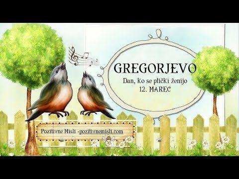 GREGORJEVO - verzi in misli za gregorjevo