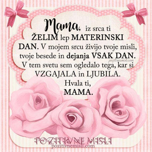 MOJI MAMI - materinski dan voščilo