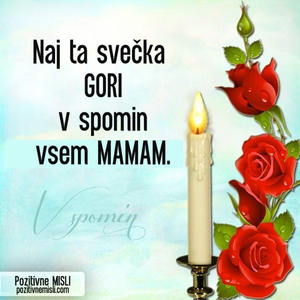 Mama - žalne misli - V spomin MAMI