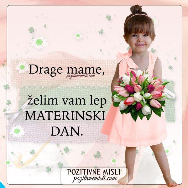 Drage mame, želim vam lep MATERINSKI  DAN.