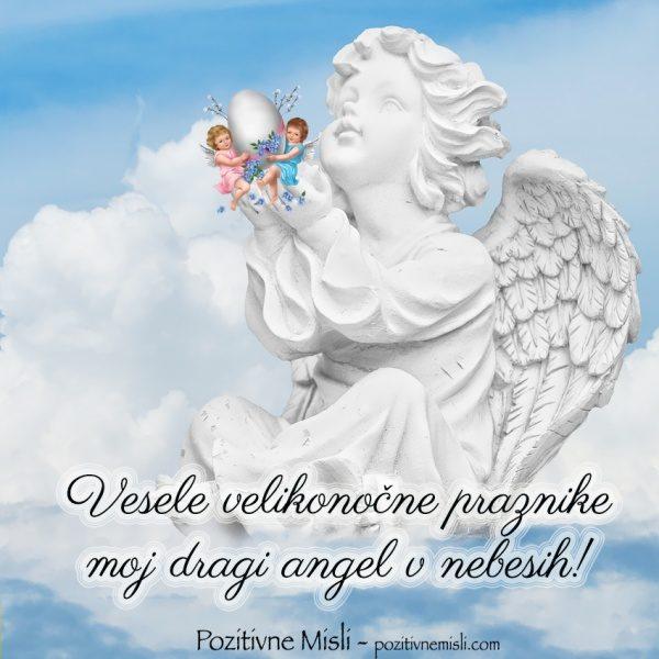 Verzi za veliko noč - Spomin moj dragi angel