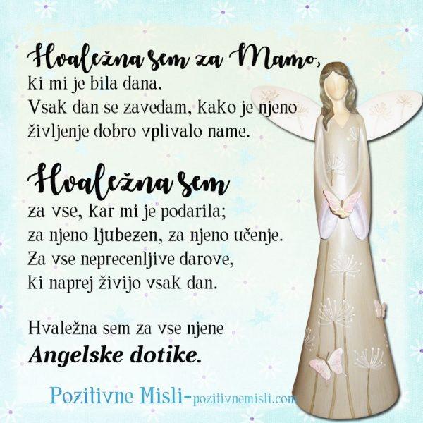 Mama ... hvaležna sem ti