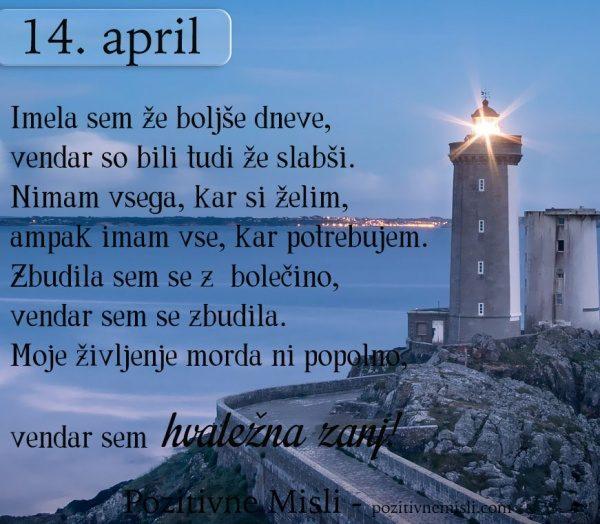 14. APRIL - 365 MISLI