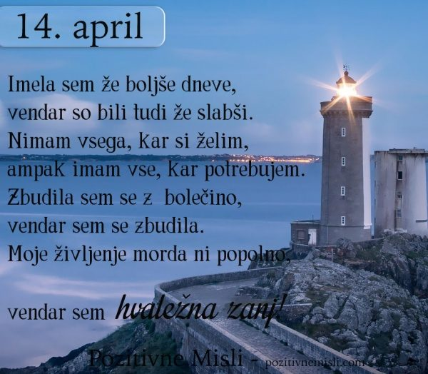 14. APRIL - 365 modrih misli