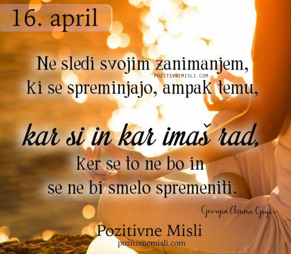 16. APRIL - 365 misli