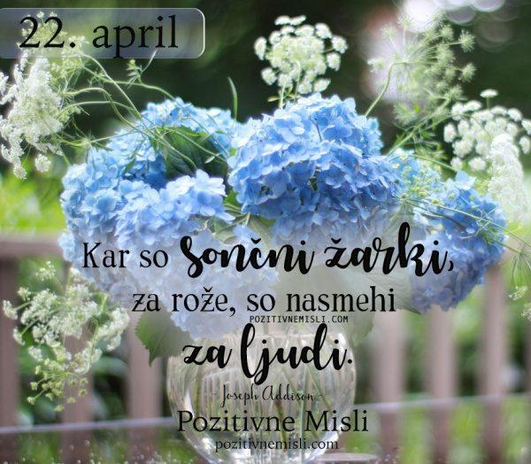22. APRIL - 365 modrih misli - Kar so sončni žarki