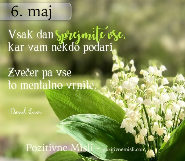 6. maj - 365 modrih misli  - Misli za vsak dan v letu