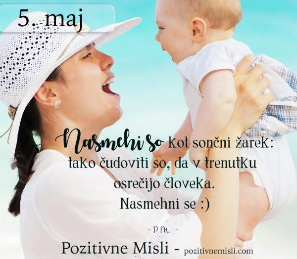 5. MAJ - 365 modrih misli - Nasmehi so kot