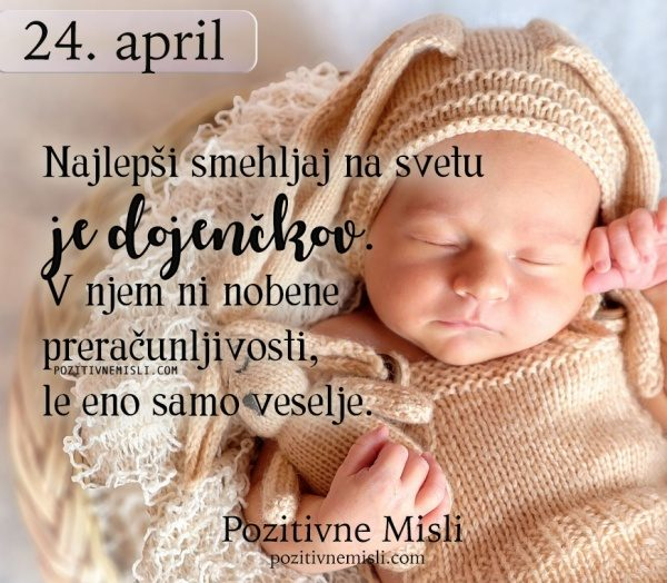 24. APRIL - 365 modrih misli - Najlepši smehljaj