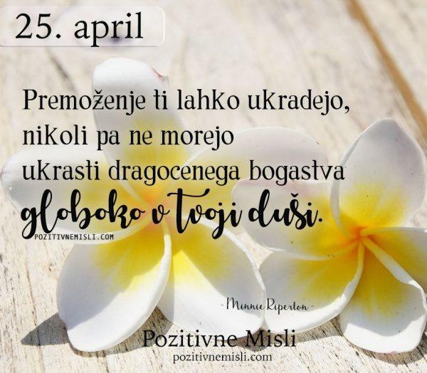 25. APRIL - 365 modrih misli - misli o duši