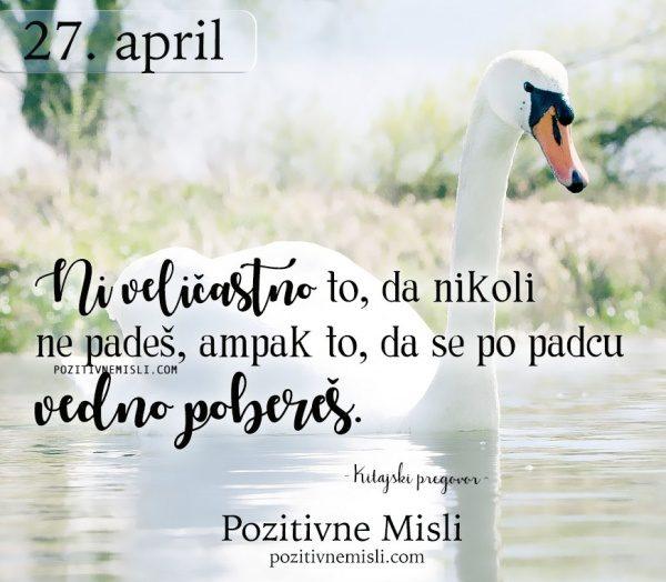 27. april  - 365 misli za vsak dan