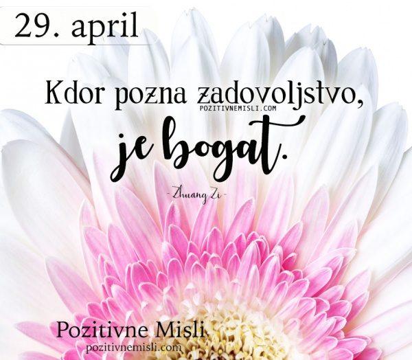 29. APRIL - 365 modrih misli - Kdor pozna