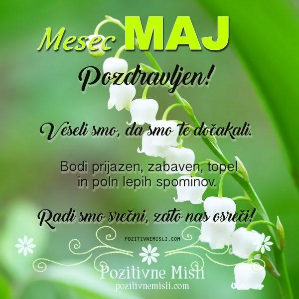 MESEC MAJ  - lepe misli za mesec maj