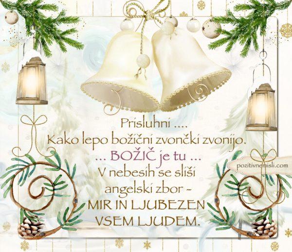 ČAROBNI BOŽIČ - Prisluhni - kako  lepo božični zvončki