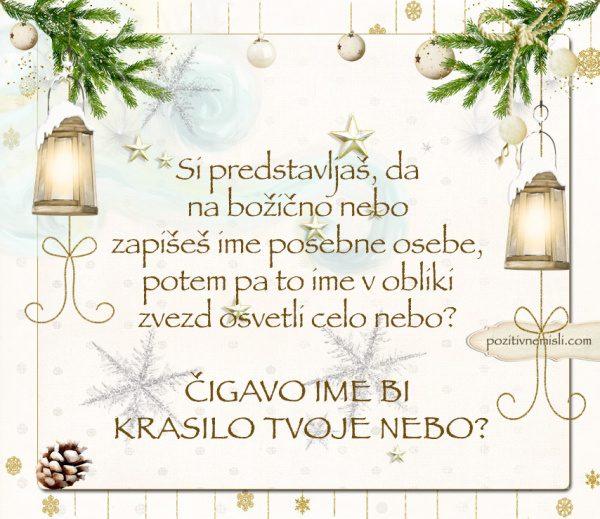 ČAROBNI BOŽIČ - Si predstavljaš, da na božično nebo