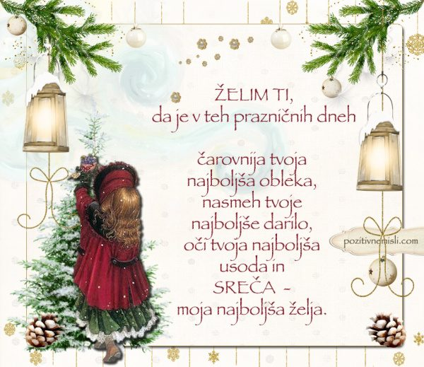 Čarobni božič - Želim ti, da je v teh prazničnih dneh