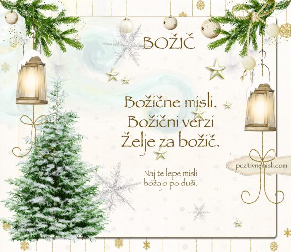Čarobni božič - Verzi za božič