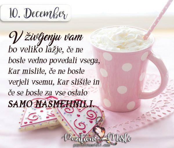 10. DECEMBER - V življenju vam bo dosti lažje