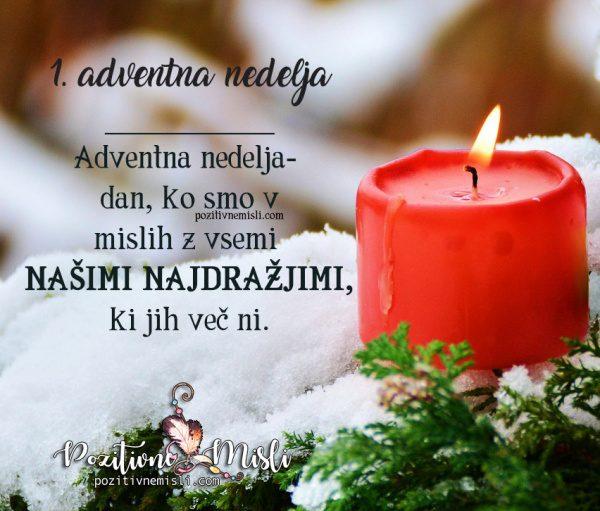 1. adventna nedelja - V spomin